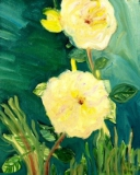 Yellow Roses, Oil on Canvas Board