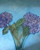 Hydrangeas, Pastels & Oils on canvas board