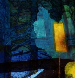 Night Flower, Digital print on canvas